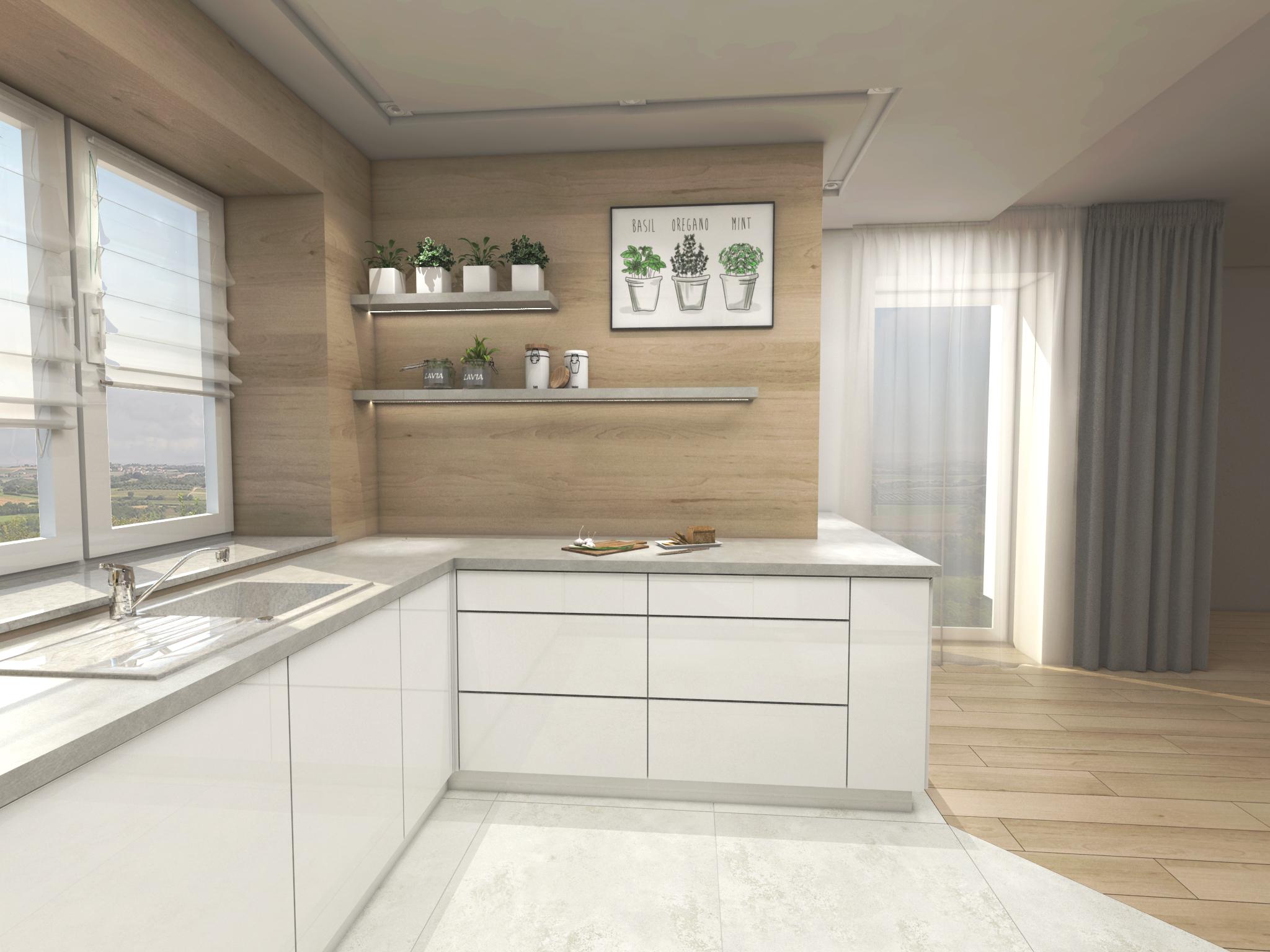 Projekt Kuchni I łazienki Dom Jednorodzinny Rzeszów Hexa